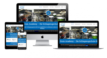 Kundenreferenz - Drum Academy Website