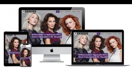 Kundenreferenz - Haarstudio B17 Website